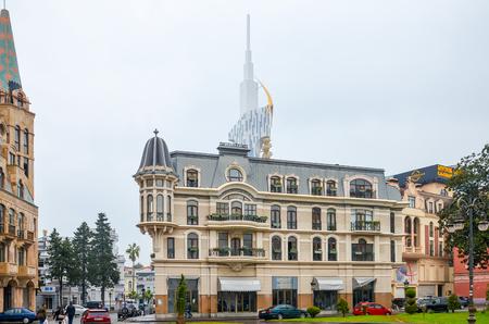 GEORGIA, BATUMI - NOVEMBER 21/2014: on the Black Sea coast of modern buildings opened to the public.