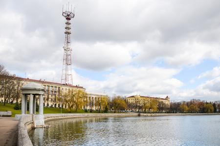The high TV tower in Minsk. Belarus.