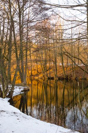 Svisloch River flows in Minsk and creates scenic spots. Belarus. Stock fotó