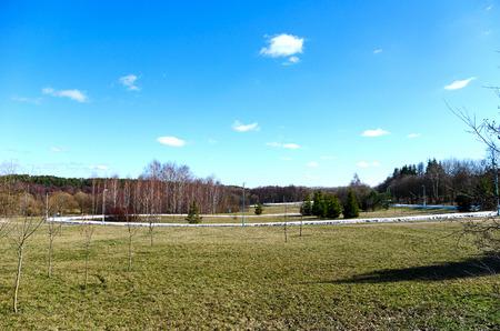 training track for skiers in Minsk, Belarus