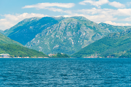 Picturesque Boka Kotor Bay during good sunny weather.