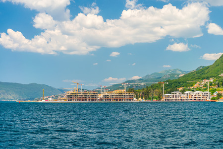On the coast of the Boka-Kotorsky Bay is the construction of luxury hotels.
