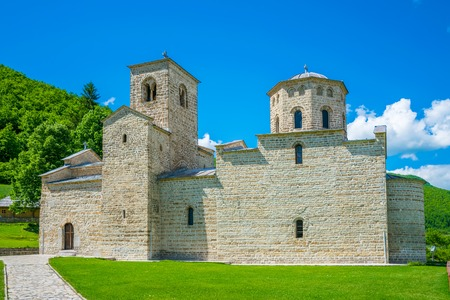 Picturesque Orthodox Monastery Djurdjevi Stupovi in Montenegro