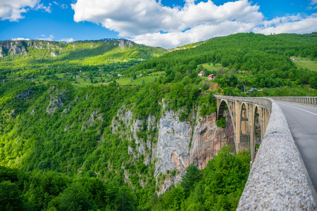 The Djurdjevic Bridge crosses the canyon of the Tara River in the north of Montenegro.