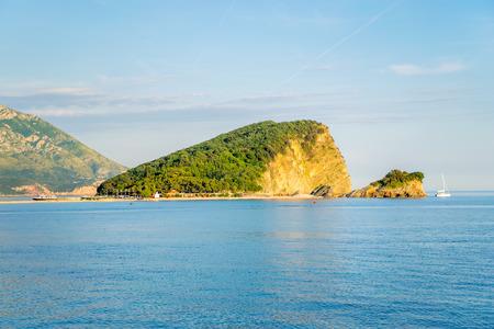 Island of St. Nicholas in Budva in the Adriatic Sea.