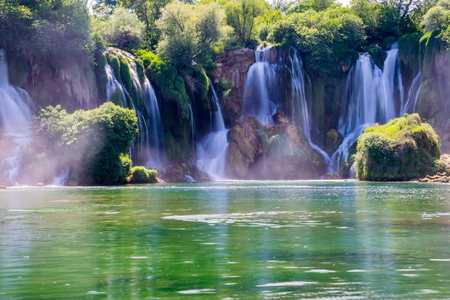 The picturesque Kravice falls in the National Park of Bosnia and Herzegovina. 版權商用圖片