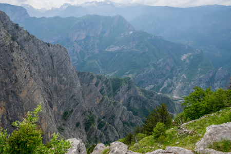 A steep mountain slope with picturesque views.