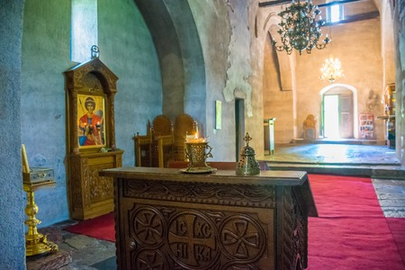 MONTENEGRO - MAY 292017: a religious procession was held in the monastery of Giurgi Stupovi.