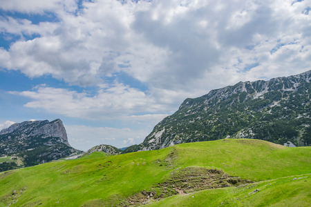 Picturesque high mountains in the north of Montenegro in the National Park Durmitor. Imagens