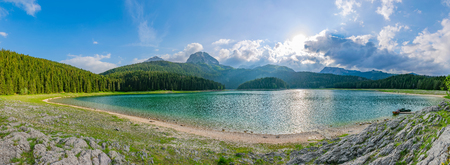 The magnificent Black Lake is located in the National Park of Durmitor in the north of Montenegro.