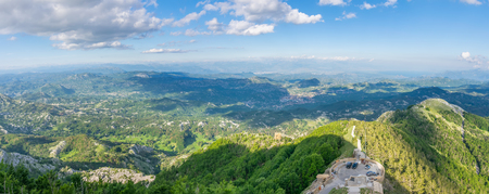 Scenic viewpoint on top of high mountains. Stock fotó