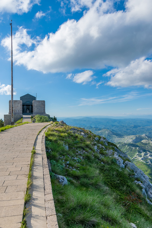 Negosh Mausoleum on the top of the high and picturesque mountain Lovcen. Redakční