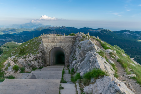 A long tunnel on Mount Lovcen leading to the Negush mausoleum.