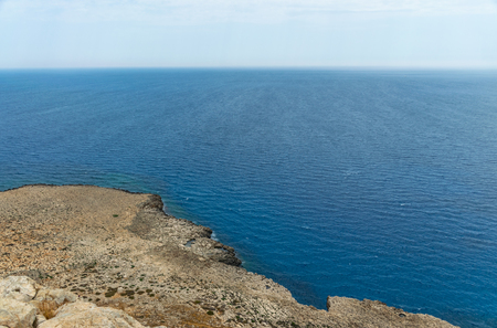 Picturesque views of the Mediterranean coast from the top of the mountain.