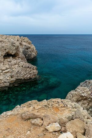 Transparent water along the azure coast of the Mediterranean Sea.