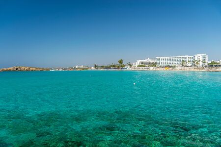 One of the most popular beaches in Cyprus is Nissi Beach, as well as its surroundings.