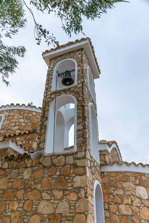 The Church of the Prophet Elijah is located on the top of a mountain in Protaras. Archivio Fotografico