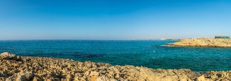 Picturesque bay on the coast of the island of Cyprus. Archivio Fotografico