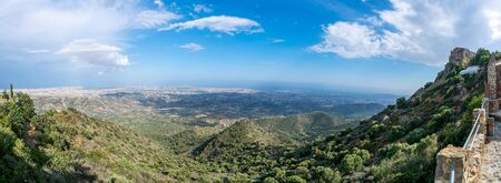 Scenic view of the top of the mountain, where the Starovuni Monastery is located. Archivio Fotografico