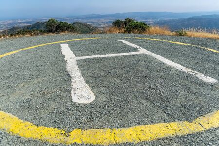 Helipad on the top of the mountain, near the Stavrovouni Monastery