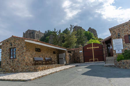 One of the most famous monasteries in Cyprus is Stavrovouni. Located at the top of the mountain.