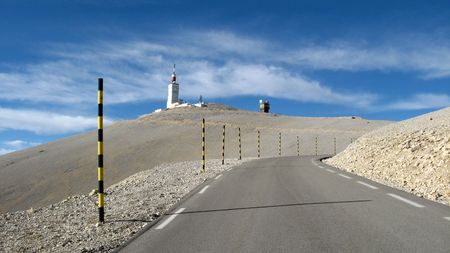 vaucluse: The road of Bedoin, Ventoux, Vaucluse, France Stock Photo