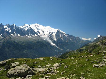 mont: Mont Blanc from Chamonix