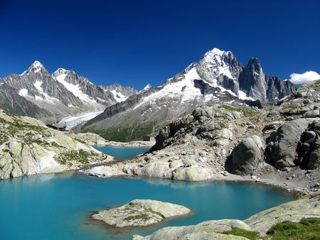 blanc: Lac Blanc, Chamonix, France Stock Photo