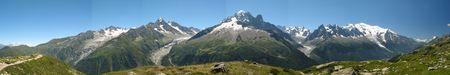 Panorama of Mont Blanc massif