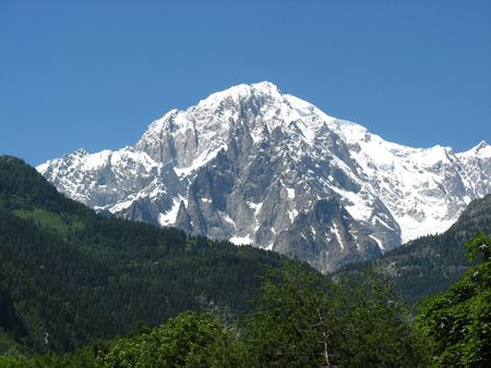 Mont Blanc of Courmayeur Italy photo