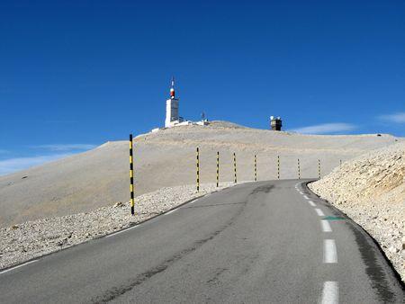 The road of Bedoin, Ventoux, Vaucluse, France Reklamní fotografie