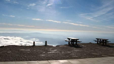 vaucluse: Benches above clouds, Ventoux, Vaucluse, France