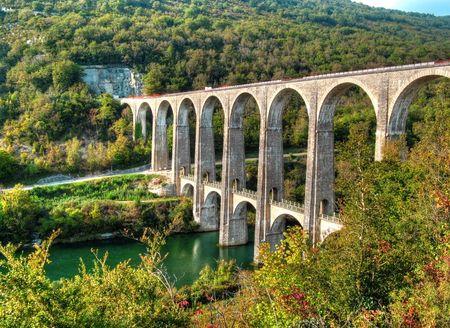 Viaduct of Cize Bolozon Reklamní fotografie