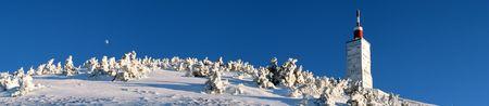 mont: Mont Ventoux in winter Stock Photo