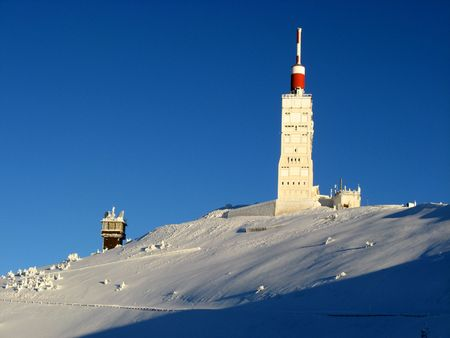 Buildings of Mont Ventoux in winter Reklamní fotografie