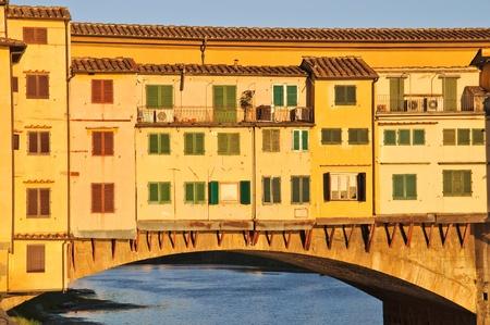 ponte vecchio: Ponte Vecchio at dusk Stock Photo