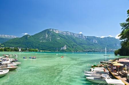 Annecy lake Reklamní fotografie