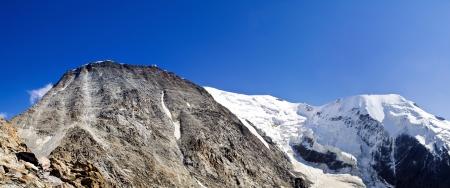 Bionnassay glacier and peak, dome du goûter Reklamní fotografie