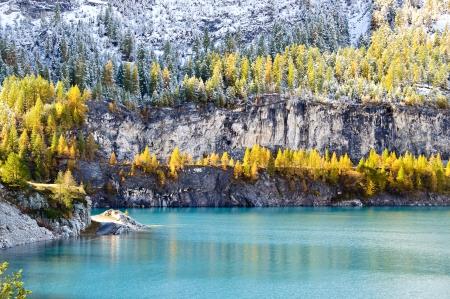 Chevril lake at fall