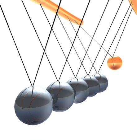 wieg van de evenwichts ballen Newton