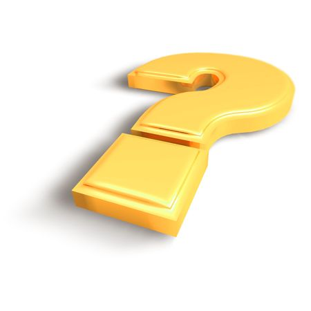 Question Mark - Isolated Help Sign Stock Photo - 5336608