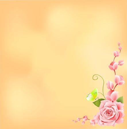 Rose frame background Stock Photo - 5336582