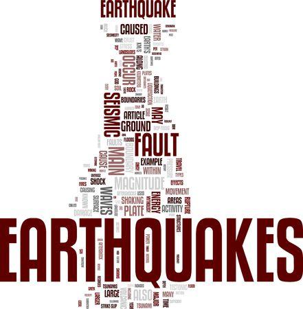 Earthquake word cloud Stock Photo - 5519214