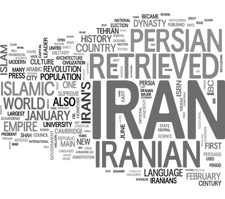 Iran word cloud photo