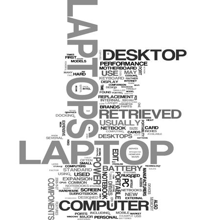 Laptop word cloud Stock Photo - 5519241