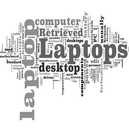 Laptop word cloud Stock Photo - 5519220