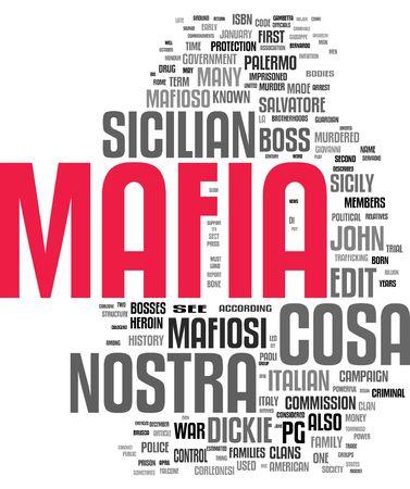 Mafia tag cloud photo