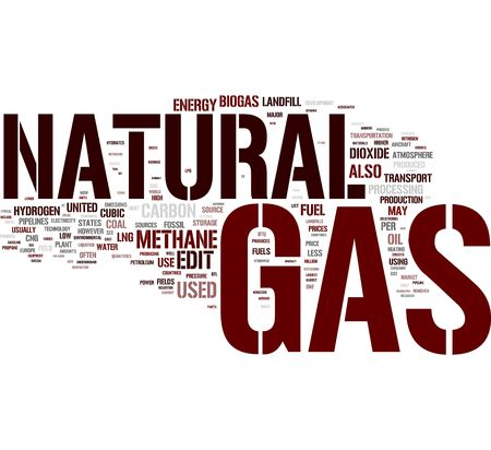 Natural Gas tag cloud photo