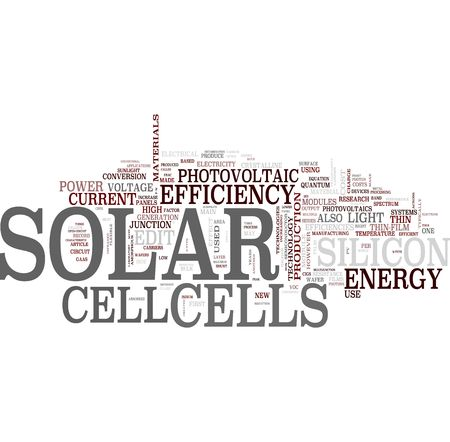 solar equipment: Photovoltaic word cloud Stock Photo