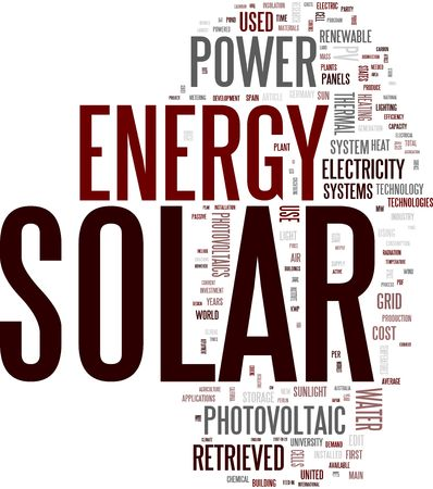 electric cell: Solar energy word cloud